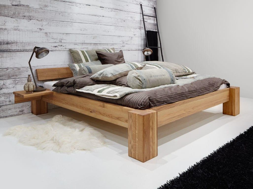 Wundervoll Bett Massiv Eiche 180x200cm Pfosten 18x18cm