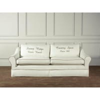 "Hussensofa Landhausstil Bakersfield Cream/Sage ""The Country"""