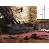 Ledersofa Chesterfield XL