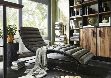 William Loungechair Vintage Leder