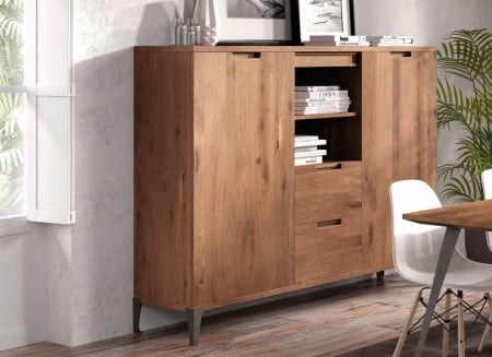 Highboard massiv Sirena offenes Fach