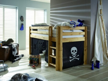 kinder hochbett kiefer massiv gelaugt leiter pickupm. Black Bedroom Furniture Sets. Home Design Ideas