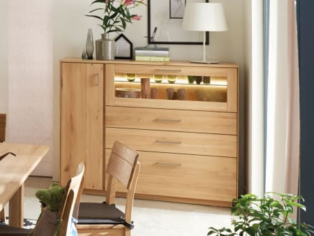 Highboard TREVA Asteiche bianco