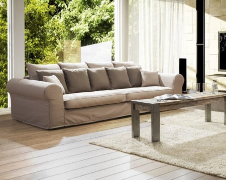 Hussensofa GENT 3 Sitzer abnehmbare Husse