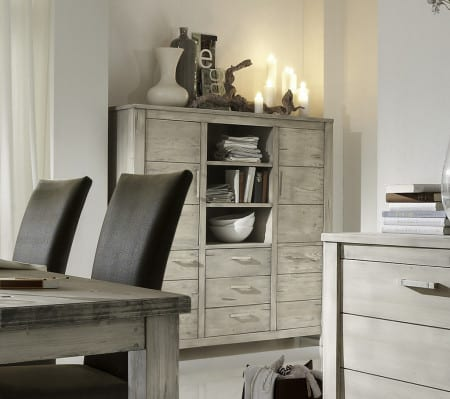 Highboard Firenze Fichte massiv tundra