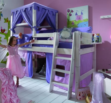 himmelbett f r kinder infanskids kiefer massiv weiss pickupm. Black Bedroom Furniture Sets. Home Design Ideas
