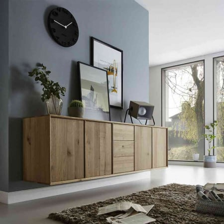 cubeit kommode 4 t ren 3 schubladen wildeiche massiv pickupm. Black Bedroom Furniture Sets. Home Design Ideas