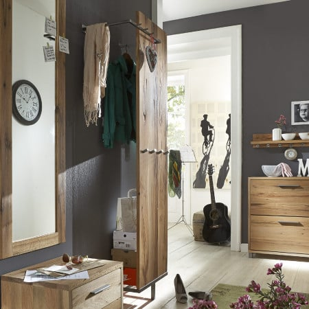 paneel eiche rockit garderobe mit kleiderstange massiv pickupm. Black Bedroom Furniture Sets. Home Design Ideas