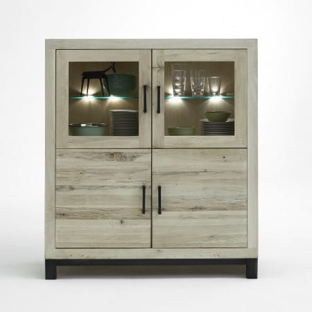Highboard Valentino Balkeneiche massiv