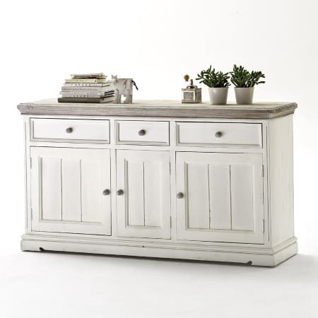 Landhausstil Sideboard Opus antikweiss Kiefer