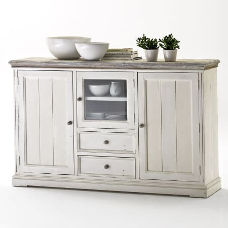 Highboard Opus weiss Landhausstil