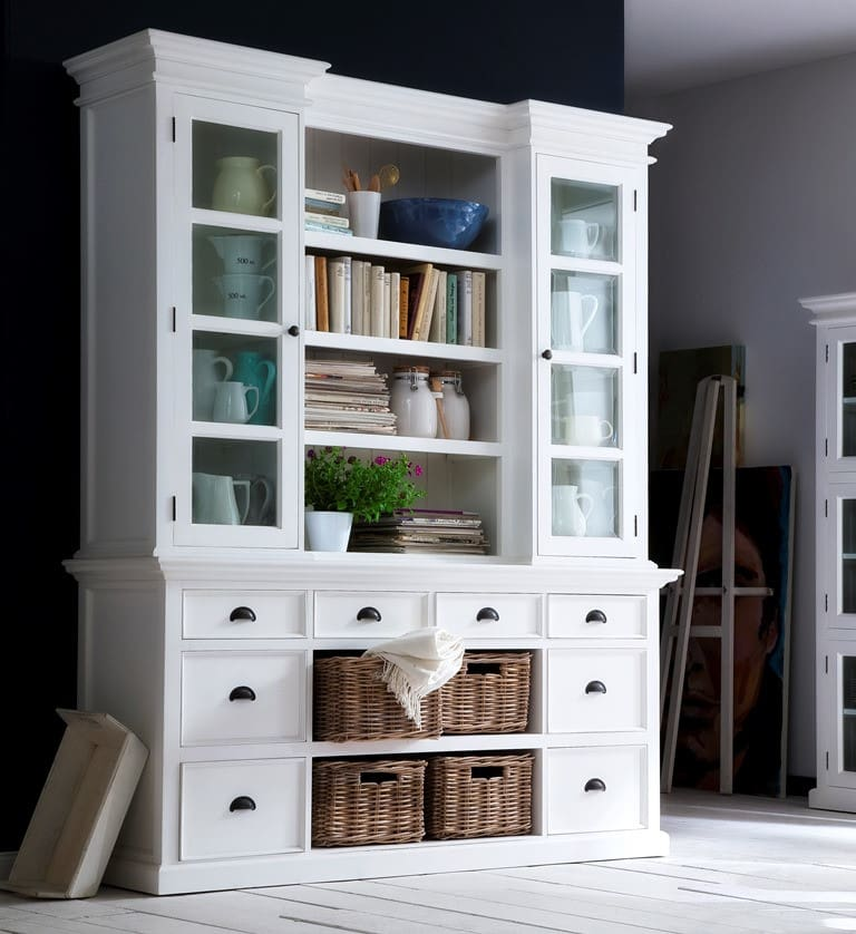 aufsatzschrank shabby chic halifax landhaus vintage pickupm. Black Bedroom Furniture Sets. Home Design Ideas