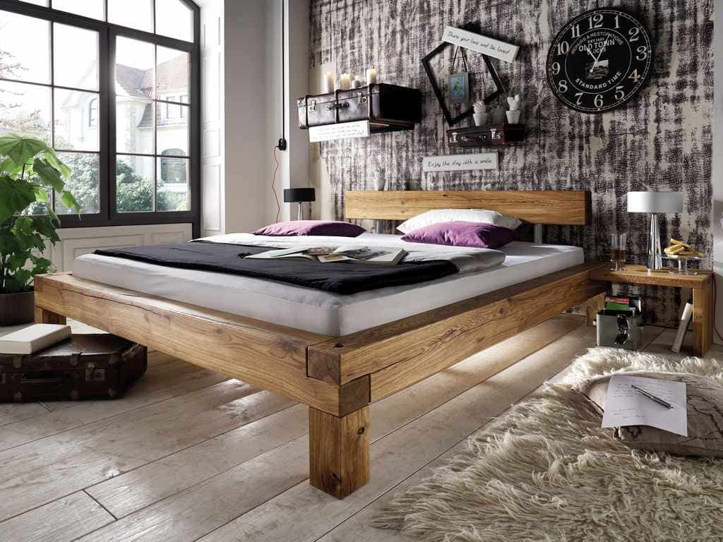 balkenbett 1 vier gr en wildeiche massiv pick up m bel. Black Bedroom Furniture Sets. Home Design Ideas