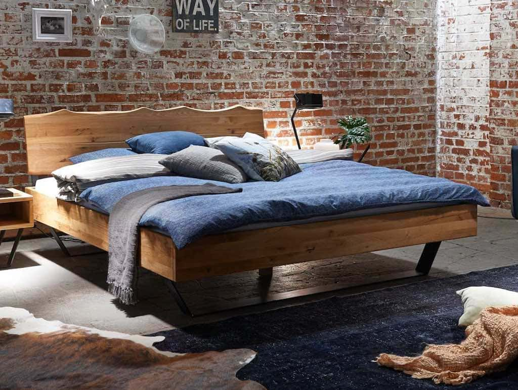 bett eiche massiv modern sleep 1 pickupm. Black Bedroom Furniture Sets. Home Design Ideas