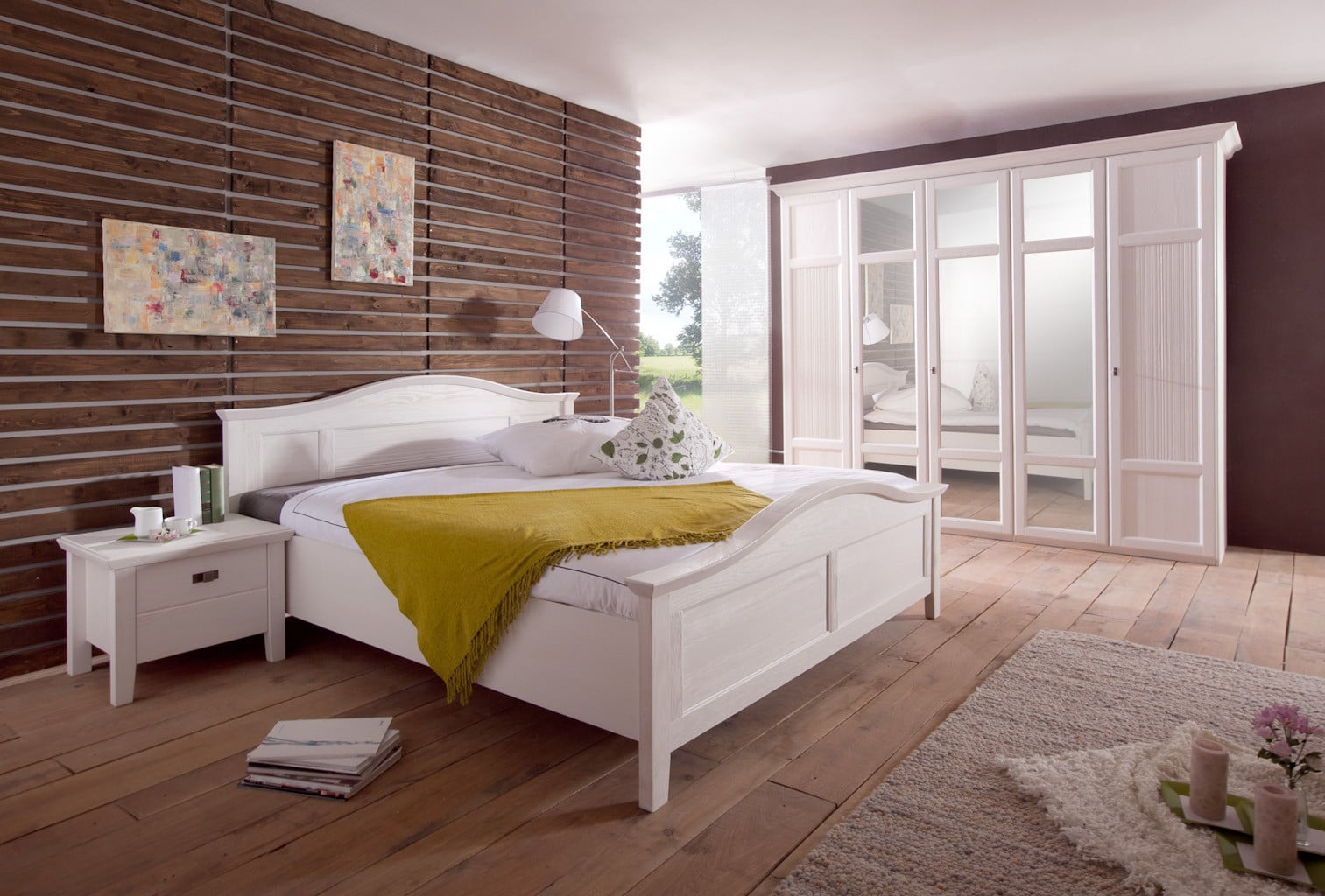 doppelbett rome pinie weiss 200x200cm landhaus bett pickupm. Black Bedroom Furniture Sets. Home Design Ideas