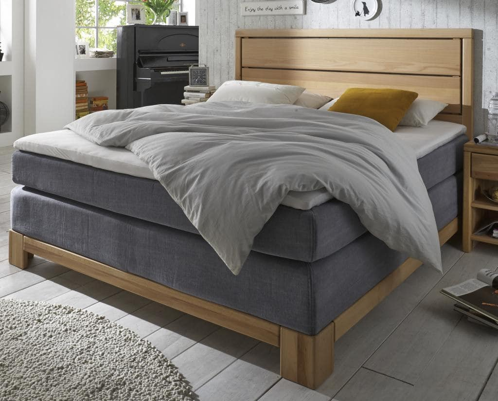 boxspring bett kernbuche holzrahmen hier konfigurieren pick up m bel. Black Bedroom Furniture Sets. Home Design Ideas