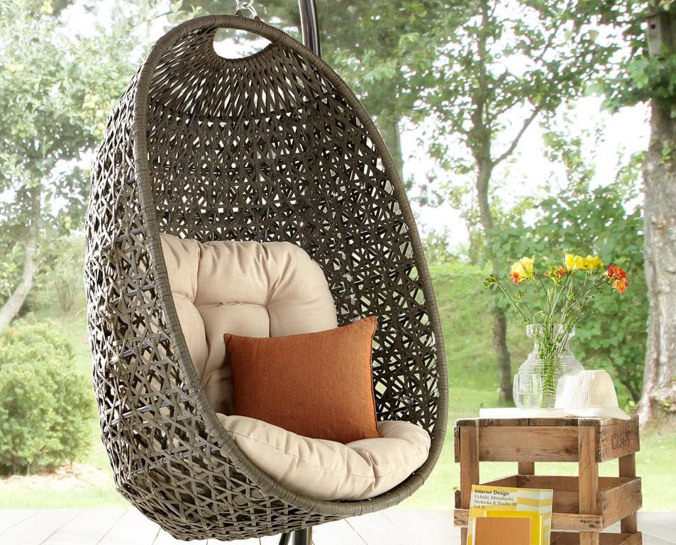 h ngesessel aus polyrattan der cocoon von destiny pickupm. Black Bedroom Furniture Sets. Home Design Ideas
