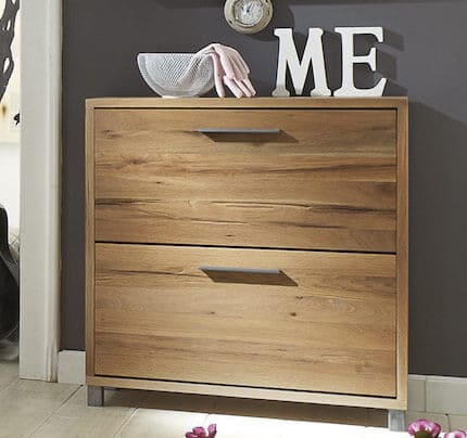 schuhschrank aus rustikaler balkeneiche 2 klappen 0 versand pick up m bel. Black Bedroom Furniture Sets. Home Design Ideas