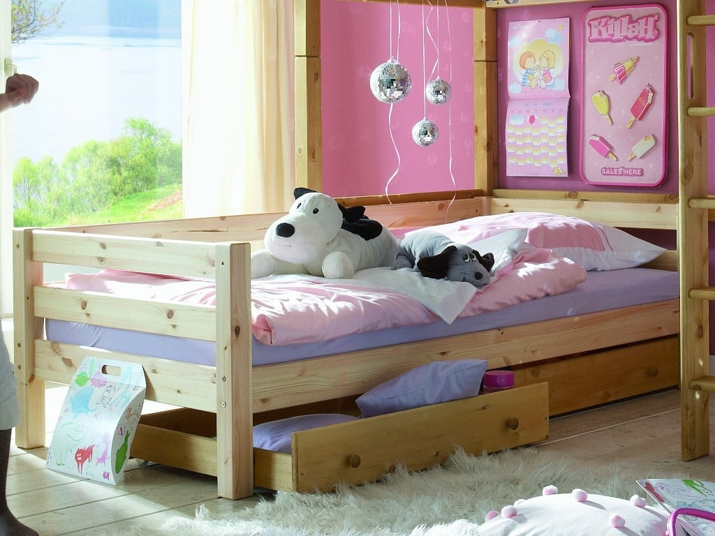 etagenbett l form infanskids kiefer massiv t v gs. Black Bedroom Furniture Sets. Home Design Ideas