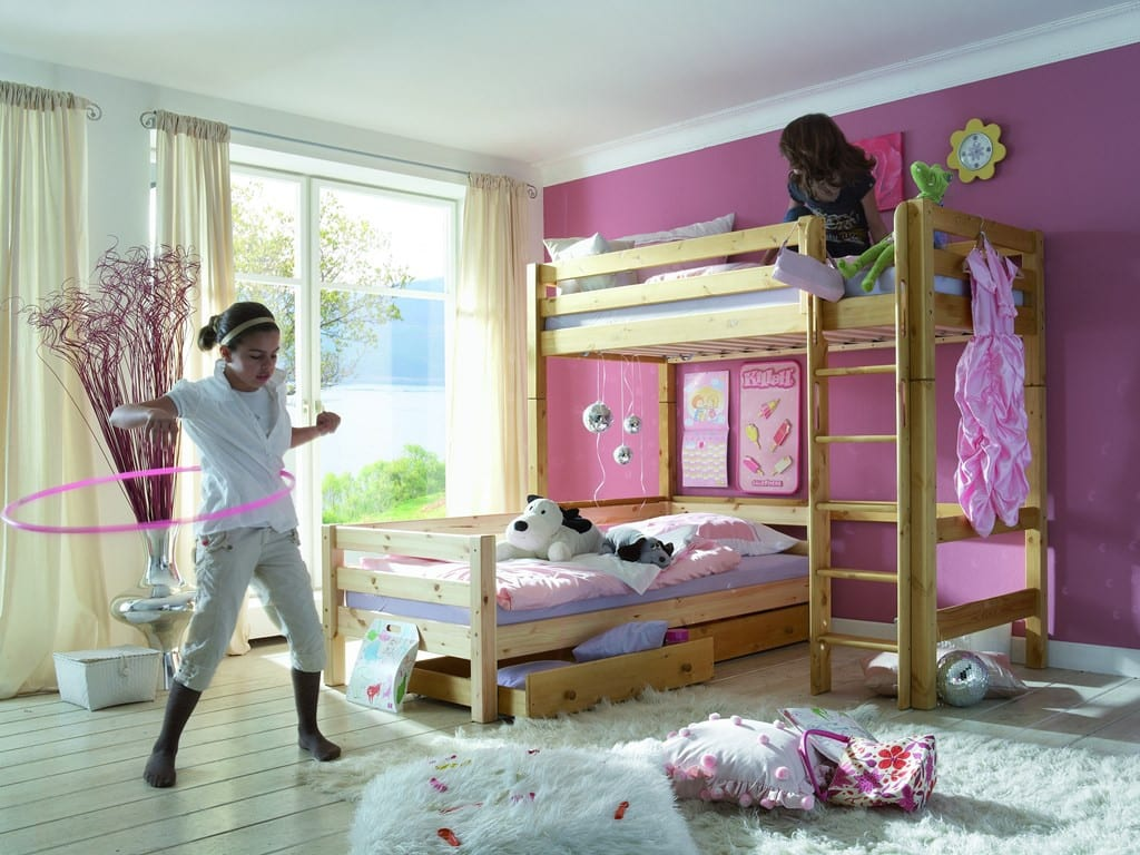 etagenbett l form infanskids kiefer massiv t v gs pick up m bel. Black Bedroom Furniture Sets. Home Design Ideas