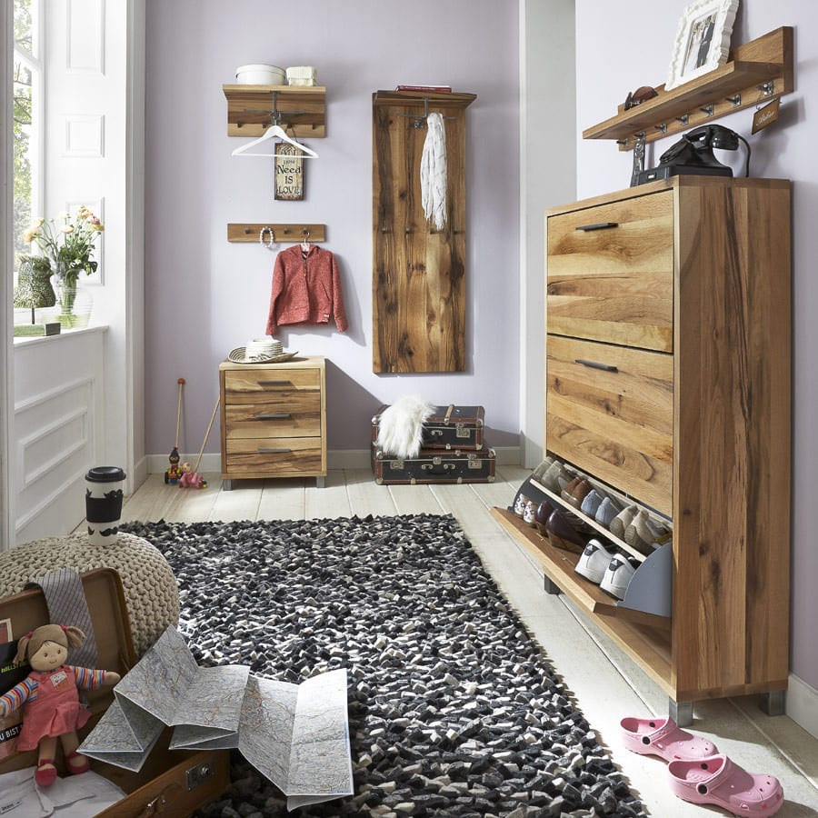 eiche kommode rockit garderobe 3 sch be eiche massiv. Black Bedroom Furniture Sets. Home Design Ideas