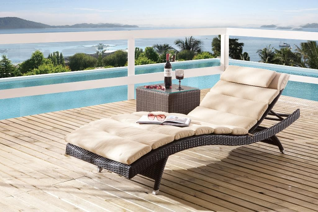 gartenliege wave wetterfest poly rattan destiny collection. Black Bedroom Furniture Sets. Home Design Ideas