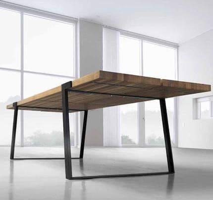 Design esstisch gigant 290x100cm wildeiche stahl for Tisch production design