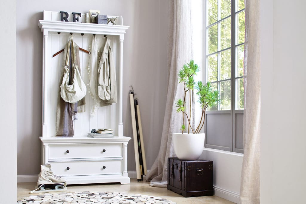 garderobe provence halifax mit schubladen weiss shabby chic pick up m bel. Black Bedroom Furniture Sets. Home Design Ideas