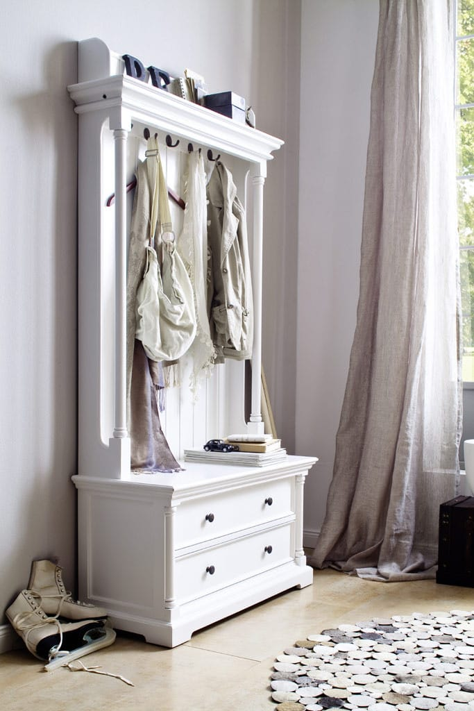 garderobe provence halifax mit schubladen weiss shabby. Black Bedroom Furniture Sets. Home Design Ideas