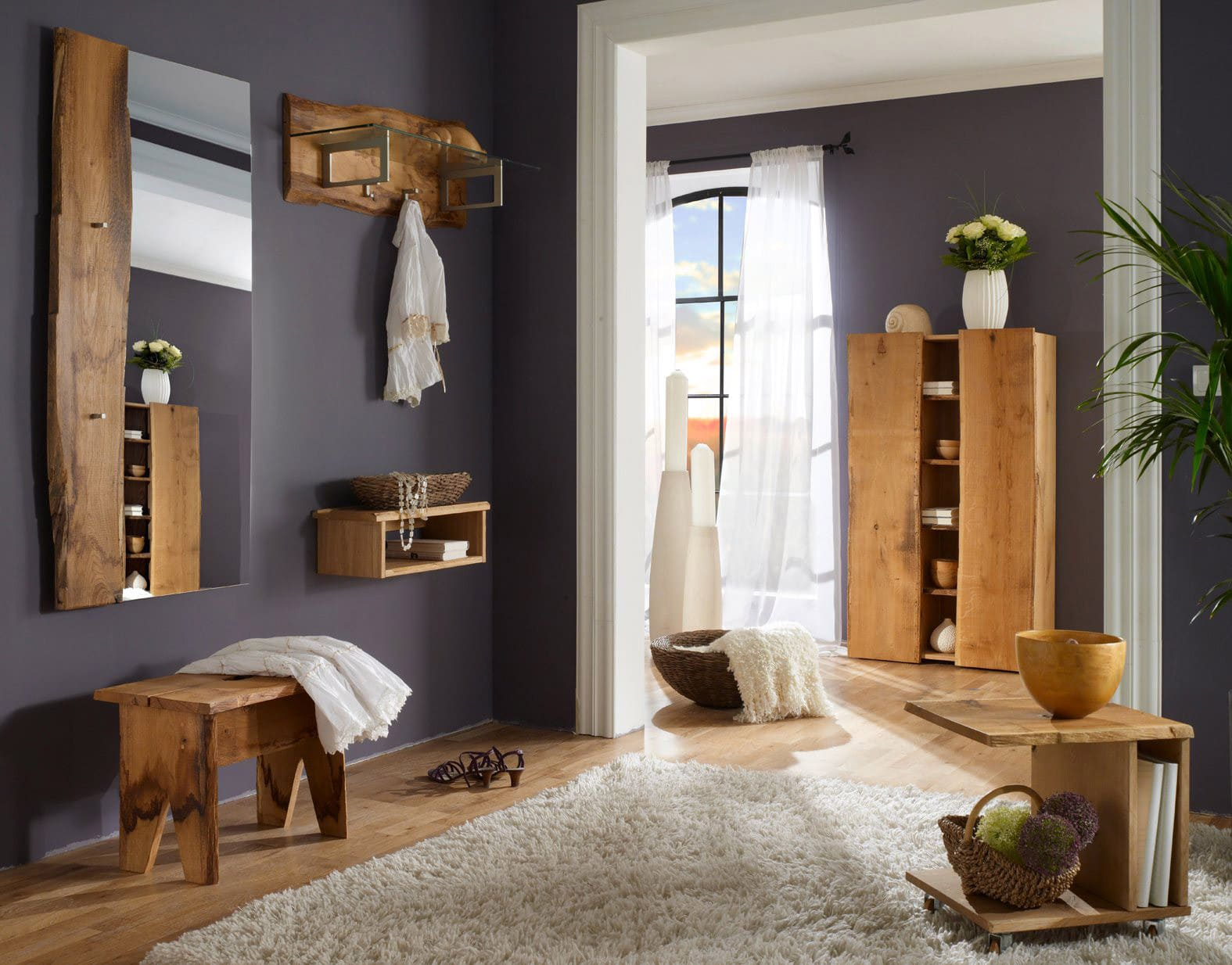 kommode eiche woodline schmal 1 t r g nstig online. Black Bedroom Furniture Sets. Home Design Ideas
