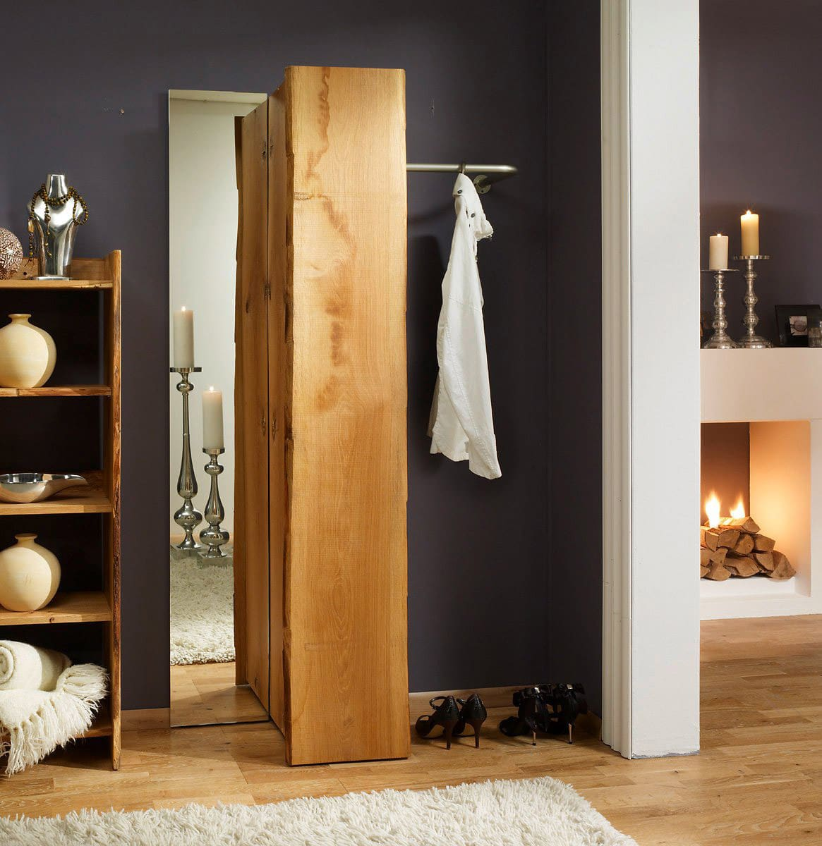 wandgarderobe eiche woodline massiv f r flur g nstig online kaufen pick up m bel. Black Bedroom Furniture Sets. Home Design Ideas