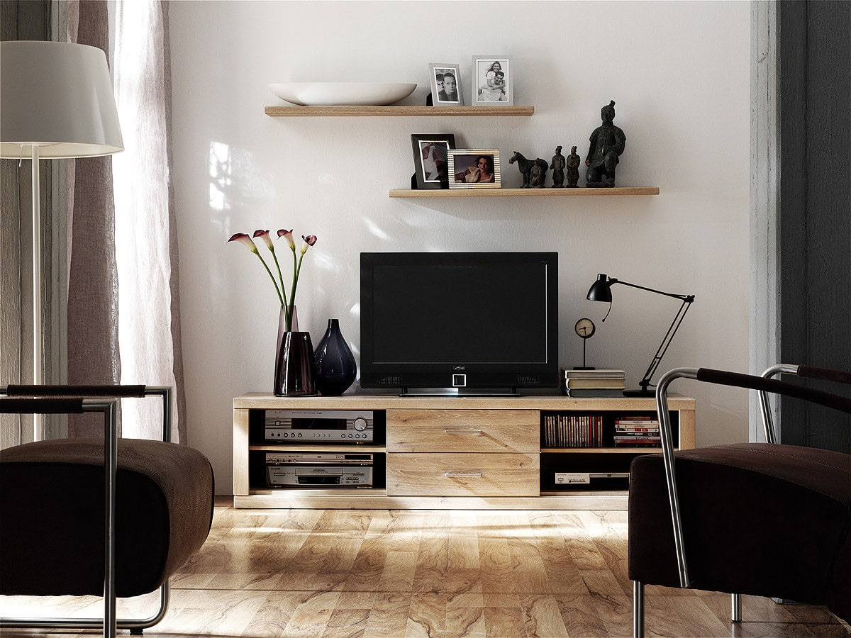 tv board massivholz bianca dudinger m bel g nstig online kaufen pickupm. Black Bedroom Furniture Sets. Home Design Ideas