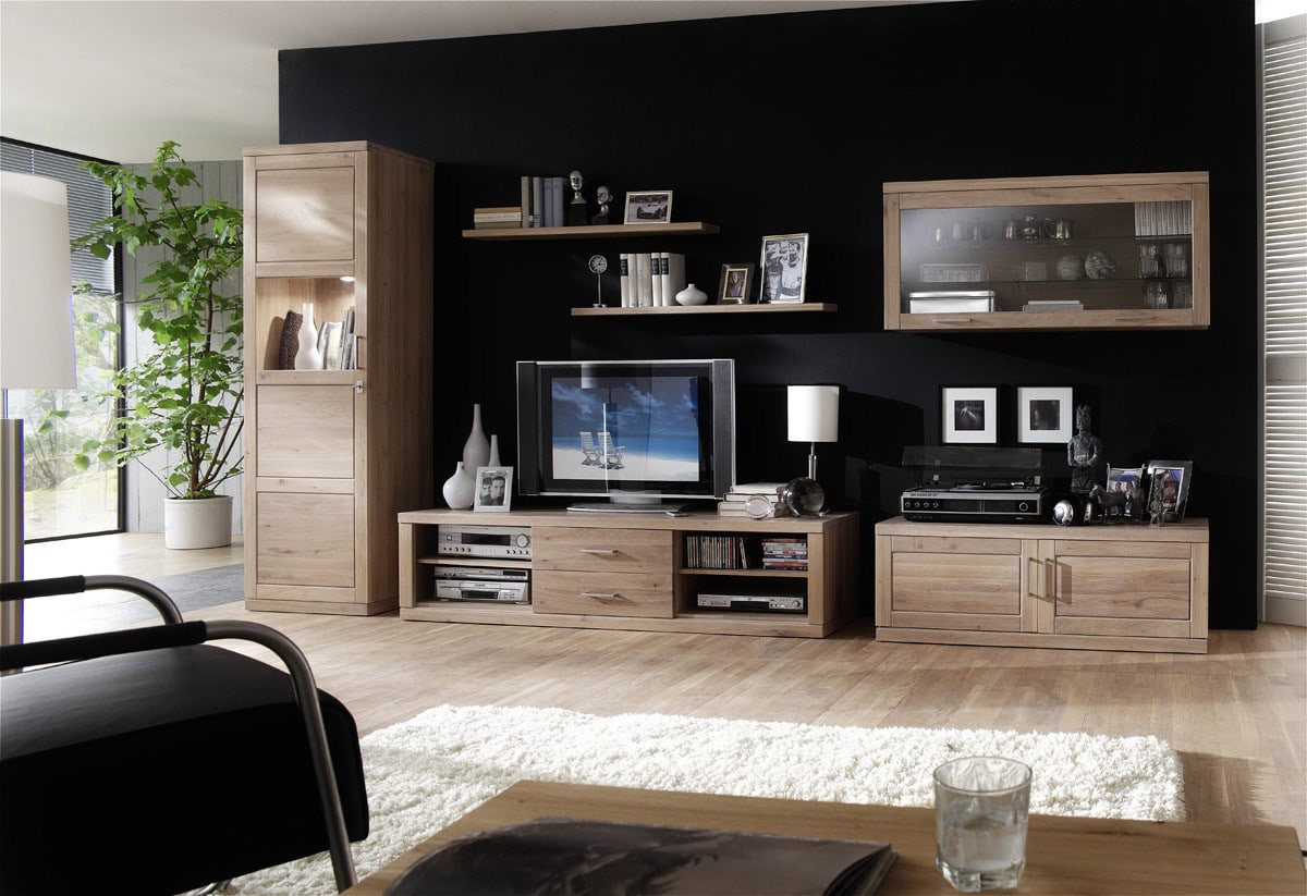 tv board massivholz bianca dudinger m bel g nstig online. Black Bedroom Furniture Sets. Home Design Ideas
