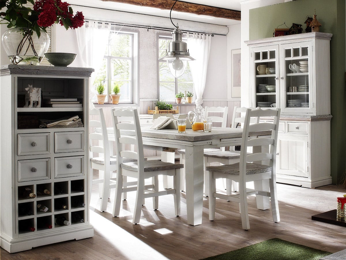 aufsatzbuffet opus in antikweiss shabby landhaus stil pick up m bel. Black Bedroom Furniture Sets. Home Design Ideas