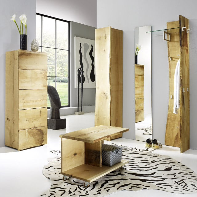 flurgarderobe komplett eiche woodline 2 g nstig in. Black Bedroom Furniture Sets. Home Design Ideas