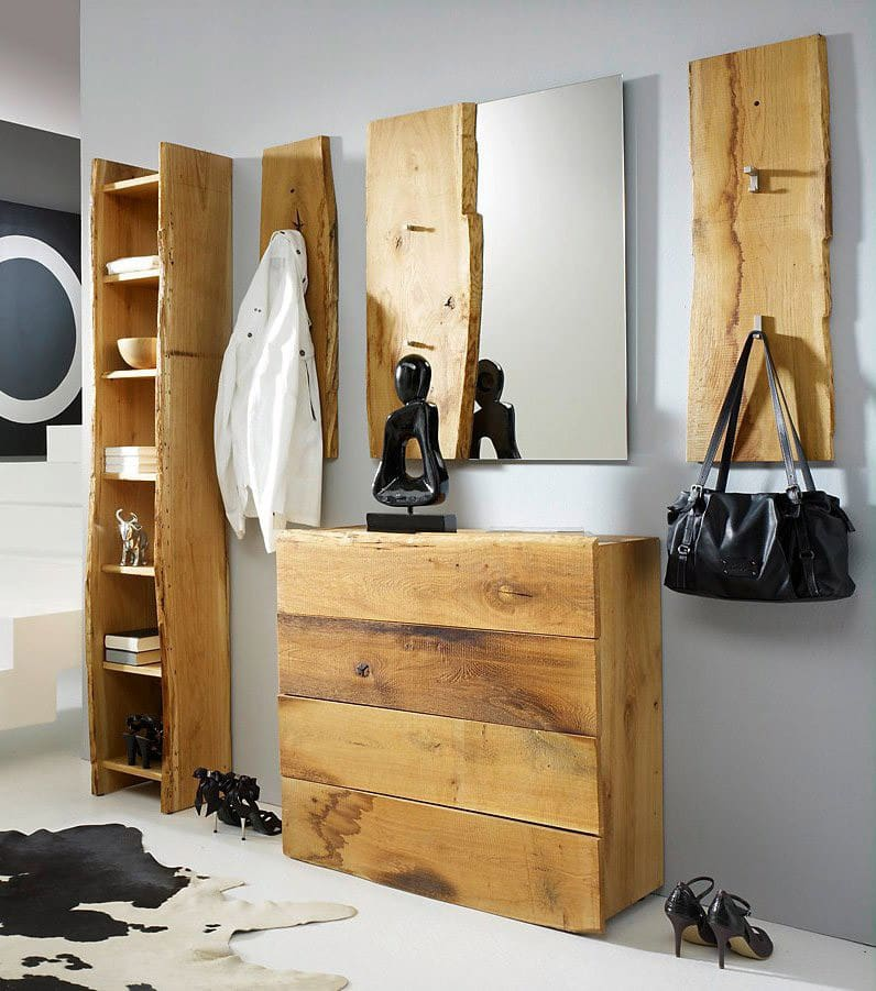 flurgarderobe komplett eiche woodline 4 g nstig online. Black Bedroom Furniture Sets. Home Design Ideas