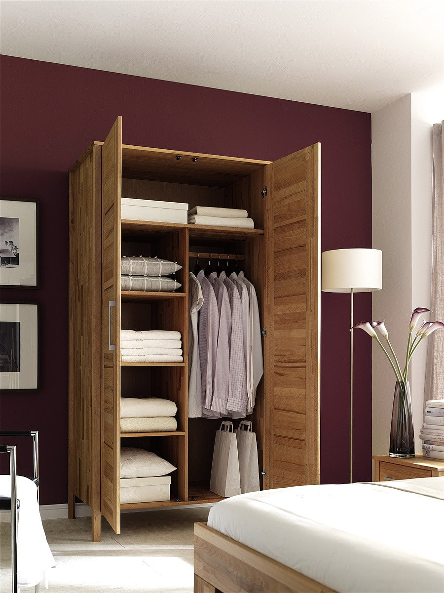 kleiderschrank kernbuche massiv modesty sicher online bestellen pick up m bel. Black Bedroom Furniture Sets. Home Design Ideas