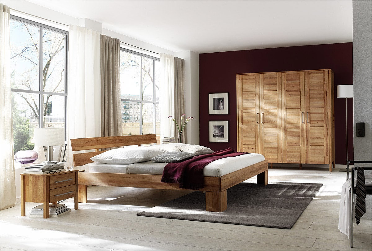 schlafzimmer kernbuche massiv zen 140 pick up m bel. Black Bedroom Furniture Sets. Home Design Ideas