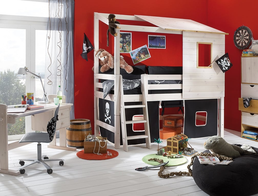 kinderhochbett abenteuerbett infanskids pirat komplett pick up m bel. Black Bedroom Furniture Sets. Home Design Ideas