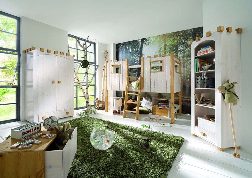 kinderhochbett ritterburg infanskids halbhoch teilbar komplett pickupm. Black Bedroom Furniture Sets. Home Design Ideas
