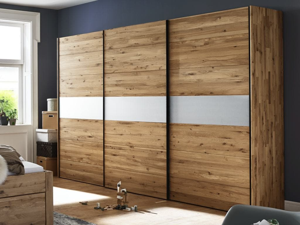 kleiderschrank movein 3 schwebet ren wildeiche glas pick up m bel. Black Bedroom Furniture Sets. Home Design Ideas