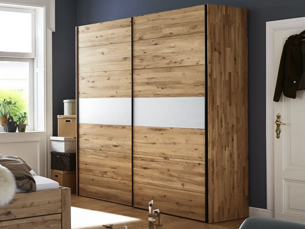 kleiderschrank movein schwebet ren wildeiche glas pick up m bel. Black Bedroom Furniture Sets. Home Design Ideas
