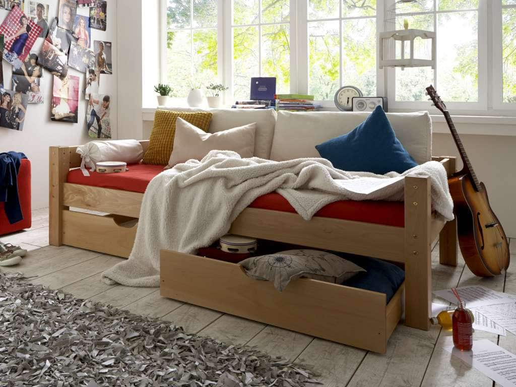 kojenbett buche massiv 90x200 cm komplett natur bio ge lt pick up m bel. Black Bedroom Furniture Sets. Home Design Ideas