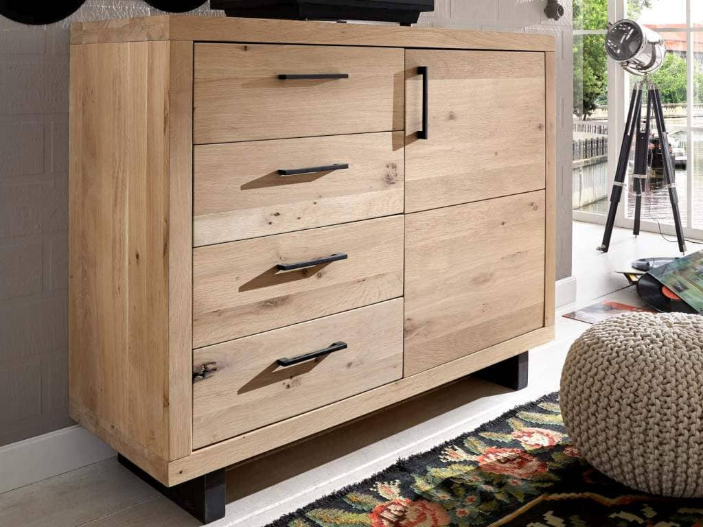 kommode woodstock wildeiche massiv pickupm. Black Bedroom Furniture Sets. Home Design Ideas