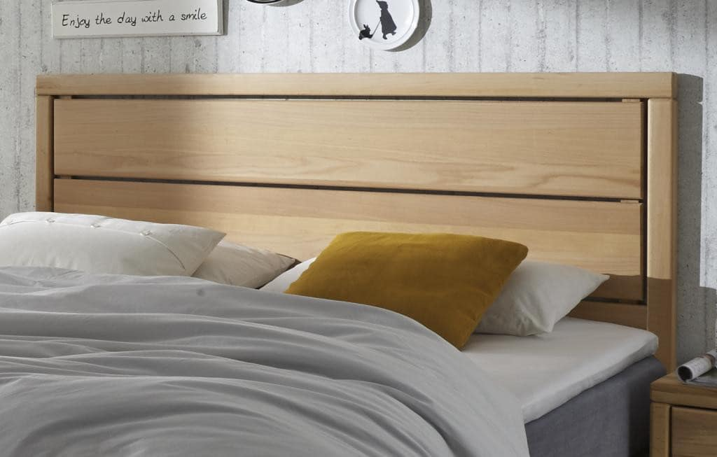 boxspring bett kernbuche holzrahmen hier konfigurieren. Black Bedroom Furniture Sets. Home Design Ideas