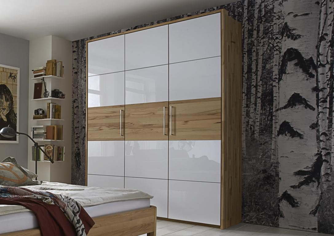 make it massiv kleiderschrank 3 t ren kernbuche wildeiche pick up m bel. Black Bedroom Furniture Sets. Home Design Ideas