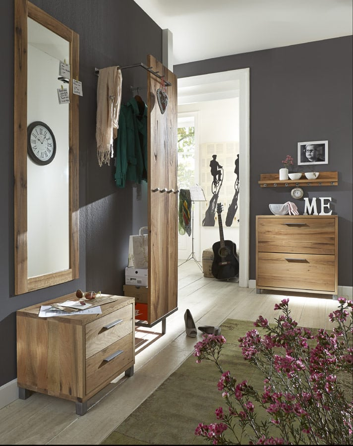 paneel eiche rockit garderobe mit kleiderstange massiv pick up m bel. Black Bedroom Furniture Sets. Home Design Ideas