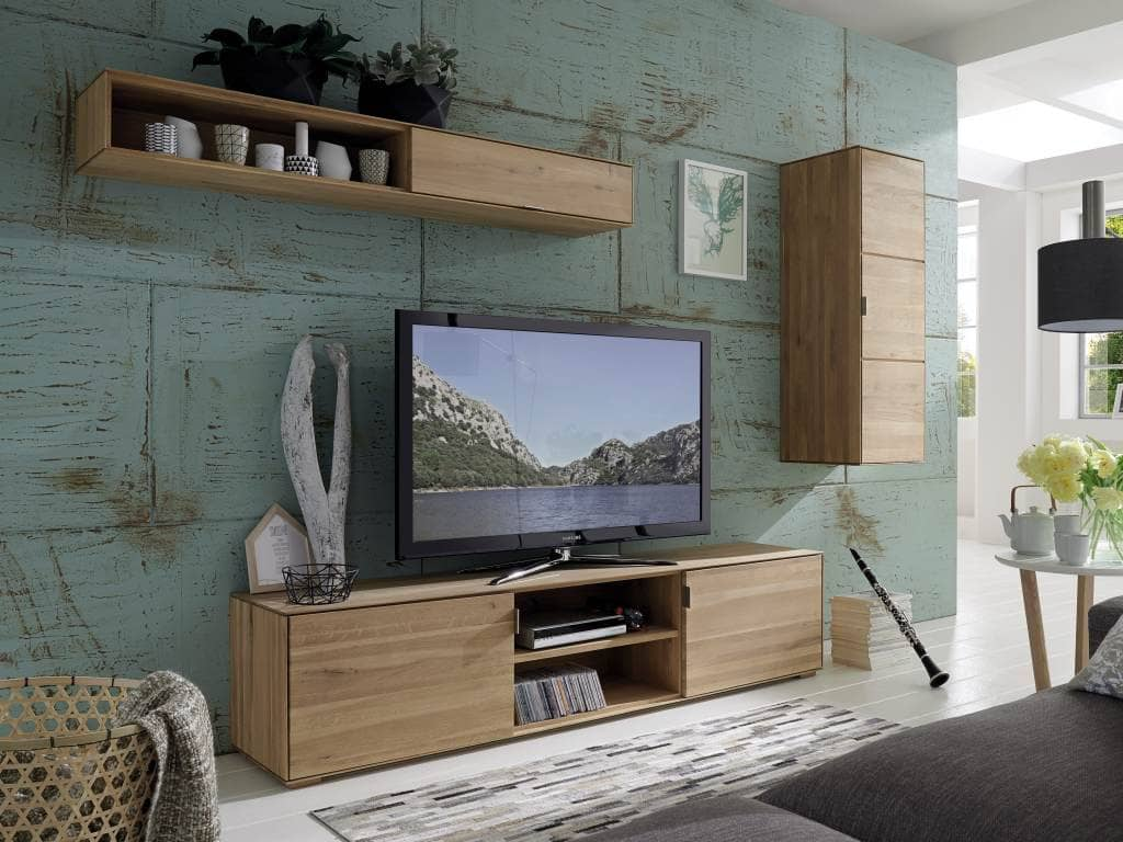 tv wand lyon wildeiche massiv modulsystem pickupm. Black Bedroom Furniture Sets. Home Design Ideas