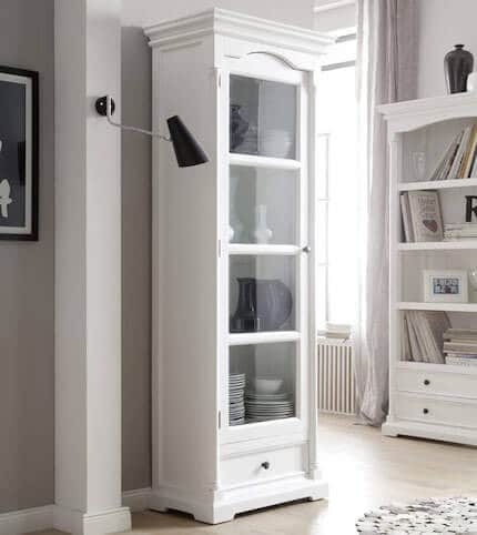 vitrine provence shabby chic weiss pick up m bel. Black Bedroom Furniture Sets. Home Design Ideas