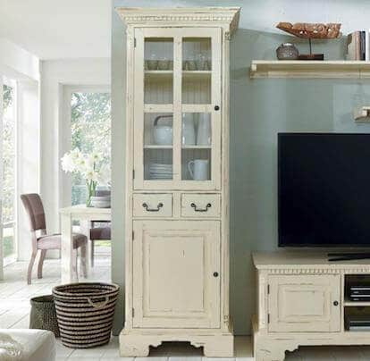 vitrine york links shabby chic massiv fichte pick up m bel. Black Bedroom Furniture Sets. Home Design Ideas